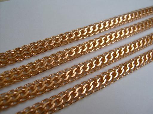 Золотая цепь плетение итальянка